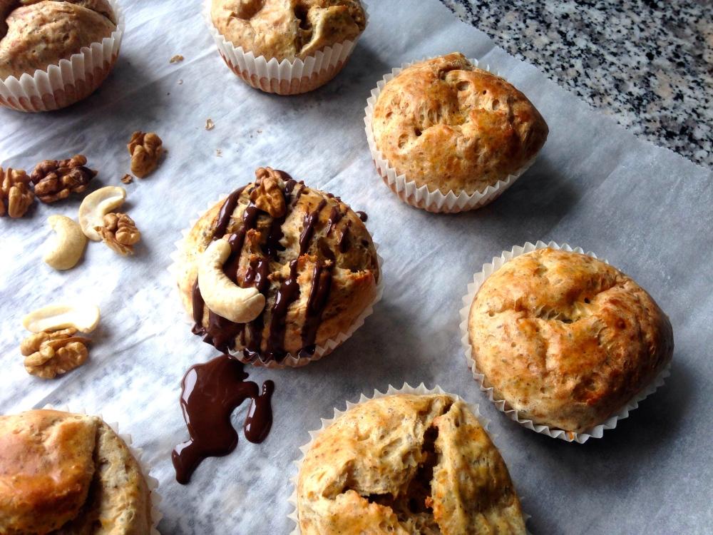 Vanille-Dinkel-Chia Muffins