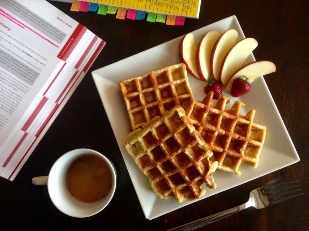 Vanilla Banana Protein Waffles